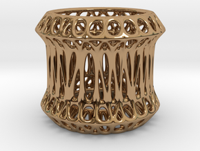 Candle Holder 3cm (004) in Polished Brass