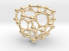 0133 Fullerene C40-27 c2 in 14K Yellow Gold