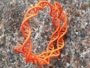 DNA Bracelet (63mm, open) in Orange Processed Versatile Plastic