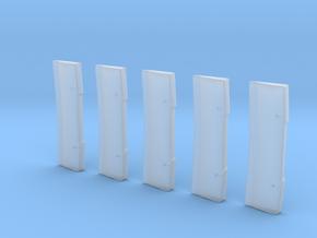 Balken Hinten 5Stück in Smooth Fine Detail Plastic