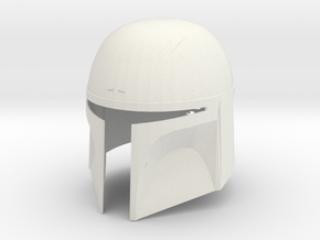 Boba Fett Helmet - Pre-Pro #1 version in White Natural Versatile Plastic