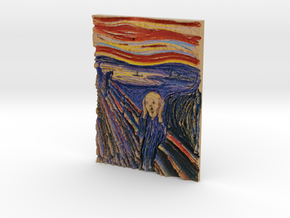 The Scream (Edward Munch) in Full Color Sandstone