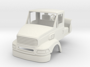 """1/64 """"Sterling 9500"""" style daycab truck with mirro in White Natural Versatile Plastic"""