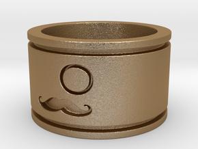 Magic Gentleman Ring in Matte Gold Steel