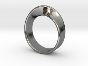 Moebius Ring 18.5 in Fine Detail Polished Silver