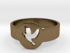Dove Ring in Raw Bronze