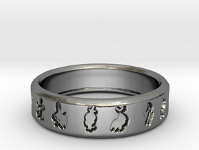 PokemonRing - Size 7 Test in Fine Detail Polished Silver
