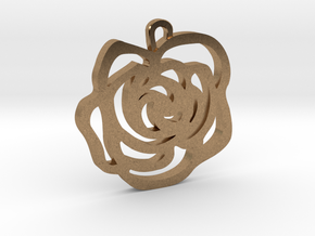 Rose Pendant in Natural Brass