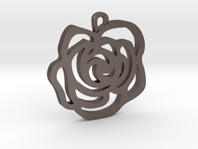 Rose Pendant in Stainless Steel