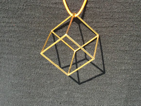Cube in 18k Gold Plated Brass