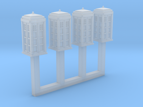 1/450 Police Call Box x4 (Tardis) in Smooth Fine Detail Plastic