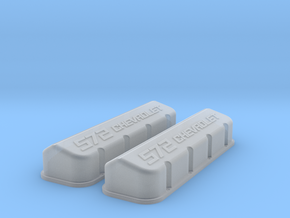 1/18 BBC 572 Logo Valve Covers in Frosted Ultra Detail