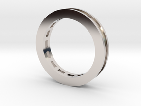 Baguette Semi Mount Ring in Platinum