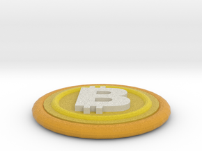 Bitcoin in Full Color Sandstone