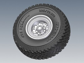 1-87 Pro-Comp Tire+Rim 2 Types in Frosted Ultra Detail
