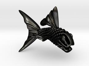 Artistic Fish Sculpture  in Matte Black Steel