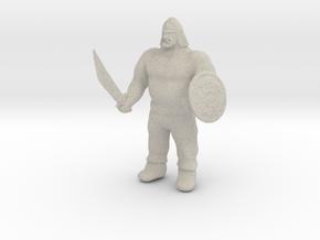 Ogre Warrior in Natural Sandstone