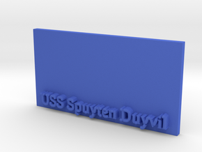 Base for 1/600 USS Spuyten Duyvil in Blue Strong & Flexible Polished