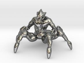 Spider Centaur in Fine Detail Polished Silver