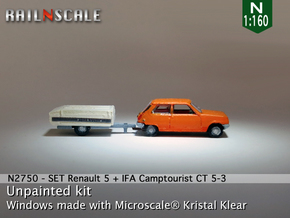 SET Renault 5 + Camptourist (N 1:160) in Smooth Fine Detail Plastic