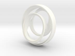 Julia Set Pendant no.3 in White Processed Versatile Plastic