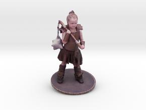 Chris M. As Warrior Girl in Full Color Sandstone