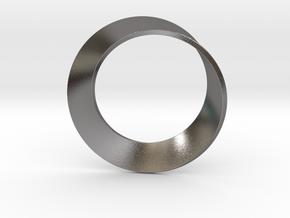 0154 Mobius strip (p=1, d=10cm) #002 in Polished Nickel Steel