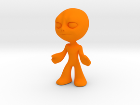 MTI-newfella pose6 in Orange Processed Versatile Plastic