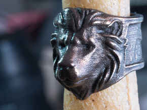 Wilds of Organica - Lion Ring (size 8) in Polished Bronze Steel