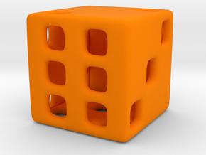 Hollow Die in Orange Processed Versatile Plastic