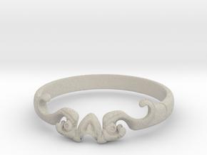 Skull of ring(reboot)(size = USA 5.5)  in Natural Sandstone