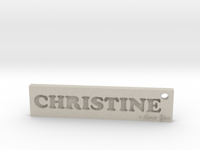 CHRISTINE (Key chain)(Pendant) - Love in Natural Sandstone