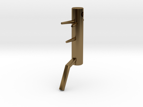 Wooden Dummy key fob in Polished Bronze