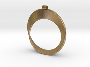 Moebius Strip in Polished Gold Steel