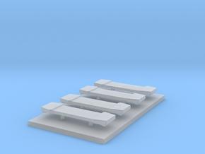LED Lightbar 30,3 mm 4 Stuks 1:43 in Smooth Fine Detail Plastic