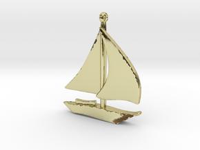 Boat Pendant in 18k Gold