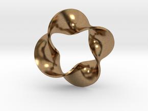 0160 Mobius strip (p=4, d=10cm) #008 in Natural Brass