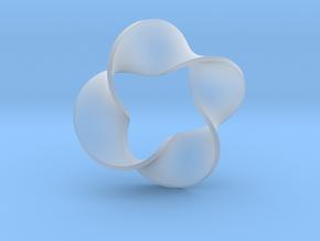 0159 Mobius strip (p=4, d=5cm) #007 in Smoothest Fine Detail Plastic