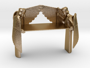 Mercy Seat for Ark of the Covenant in Polished Gold Steel