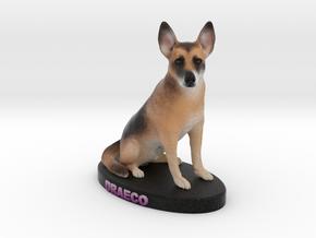 Custom Dog Figurine - Draeco in Full Color Sandstone