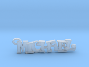 Michael Keychain (Pendant) in Smooth Fine Detail Plastic