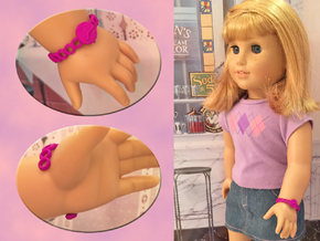 18 Inch Doll Watch in Purple Strong & Flexible Polished