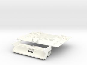 1-16 M10 Diesel Exh-Deflector + Engine Grill in White Processed Versatile Plastic