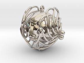 princess pendant in Rhodium Plated Brass