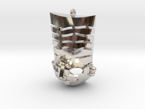 Pasha pendant in Rhodium Plated Brass