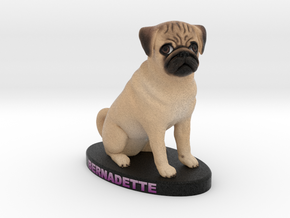 Custom Dog Figurine - Bernadette in Full Color Sandstone