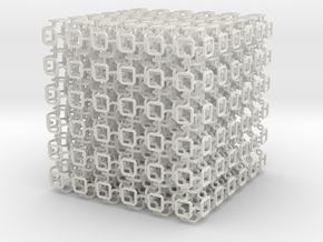 Microstructures: Pattern0050 5mm cell in White Strong & Flexible