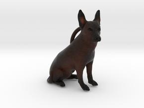 Custom Dog Ornament - Frebie in Full Color Sandstone