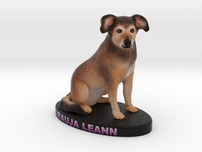 Custom Dog FIgurine - Rauja in Full Color Sandstone