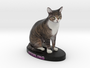 Custom Cat FIgurine - Sterling in Full Color Sandstone